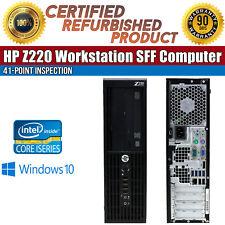 HP Z220 Workstation SFF Intel i5 8 GB RAM 500 GB HDD Win 10 USB B Grade Desktop