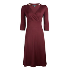 Fever London Andrea Wrap Dress in Plum Size 10 BNWT RRP £64.99