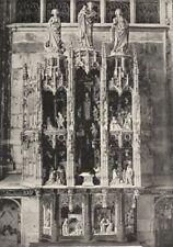 AIN. Brou. Retable de L' Autel Vierge 1895 old antique vintage print picture