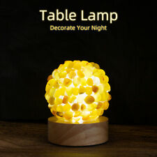 Creative home table flower shape natural crystal lamp bedroom LED light wedding