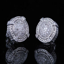 Sterling Silver Natural SI/H Diamond Jewelry Engagement Wedding Fine Earrings