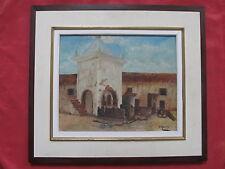 """Belle huile orientaliste 1960  """" le fort Mauresque """""""