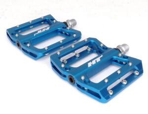 HT Components AN14A Mountain Bike Flat Platform Pedals - Blue