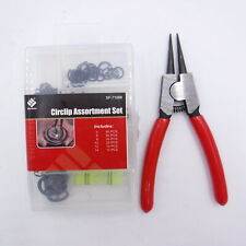 New listing (200 Pieces) Circlip Assortment Set with Pliers Sf-71068 sizes 5 6 8 10 12 14