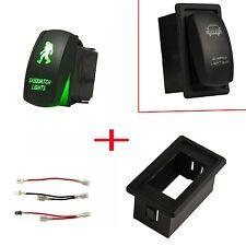 ON/OFF Green LED Light Sasquatch Laser Rocker Switch Mount Holder House Box Car