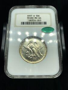 1937 S Texas Commemorative Half Dollar NGC MS66 CAC Old Fatty Holder