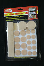 27pc Felt Floor Protector Pads Scratch Skid Slip Self Adhesive Heavy Duty Felt