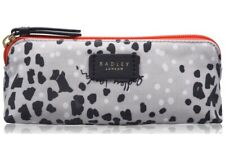 Radley Leopard Oilskin Small Zip Top Pouch NEW
