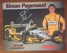 Simon Pagenaud Signed Meijer Indy 500 Car Hero Card 2015 Rare Autographed