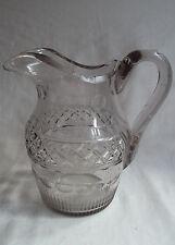Antique Georgian Cut Crystal Glass Large Water Jug 18th c Possibly Irish