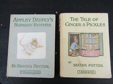 "VINTAGE X 2 Beatrix Potter ""Ginger & Pickles, Appley Dapplys Nursery Rhymes"""