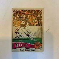 Vintage 1975 Topps O.J. Simpson Signed Autographed Football Card