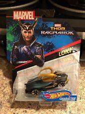 Hot Wheels Marvel Thor Ragnarok Loki Character Cars Mint on Card