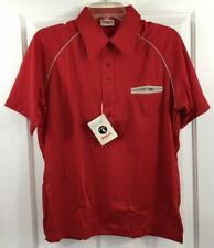 King Louie Creation Men's Red Bowling Shirt Short Sleeve Polo USA Size M New!