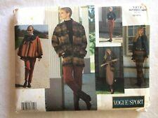 Vtg UNCUT Vogue 1213 Misses Size 12 14 16 Jacket Poncho Dress Skirt Pant Pattern