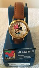 DISNEY-MINNIE MOUSE Vntg Watch By Lorus - New w/Original Pkg/Product Information
