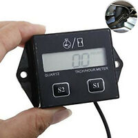 Motorcycle Digital LCD Tachometer Induction Counter Tach/Hour Meter Gas Engine