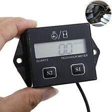 Motorcycle ATV Engine Inductive Hour Meter Gauge Tachometer LCD Digital Display