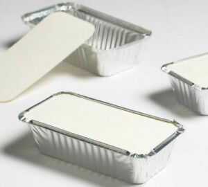 ALUMINIUM FOIL FOOD CONTAINERS+LIDS x100 No.6A PERFECT FOR HOME AND TAKEAWAY USE