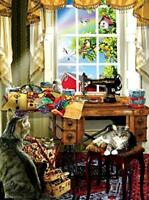 The Sewing Room 1000 Pc Jigsaw Puzzle by SunsOut Inc.