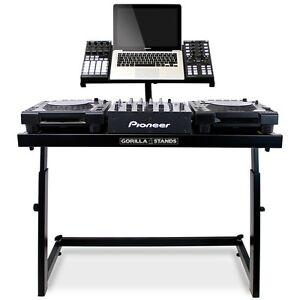 Gorilla DS-1 DJ Deck Stand CDJ Controller Mixer Laptop DJ Equipment Workstation