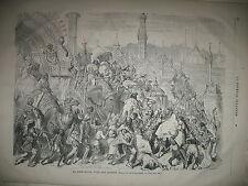 INDE FETE MOHARRUM  MUSULMANS CHYITES PAR GUSTAVE DORé LE JOURNAL ILLUSTRé 1868