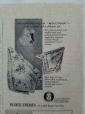 1952 Bloch Freres posy pattern handkerchief Boutique vintage ad