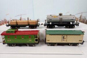 Set Of 4 Vintage Prewar Lionel Standard Gauge Freight Cars 511 & 514 & 515 & 517