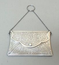ANTIQUE ENGLISH STERLING SILVER CALLING CARD / BUSINESS CARD CASE, 60 grams