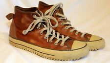 Converse Chuck Taylor All Star Leather High Tops Brown Men's 11, Women's 13 EUC