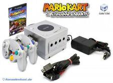 Nintendo GameCube - console #silver + Mario Kart + 2 gamepads + equipment