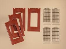 Auhagen H0 Système modulaire 80509: 4 Cloisons + 4 Fenêtre 2342N, rouge