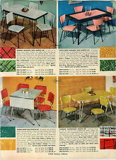 1955 PAPER AD 4 PG Mid Century Dinette Sets Plastic Mother Of Pearl Chrome Glo