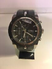 Relic By Fossil Stainless  Grey Chronograph Men's  Watch ZR66041 New Battery
