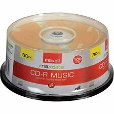 30 Pack CD-R Blank Media Spindle Maxell Audio Music 32x 80 Minute 700MB