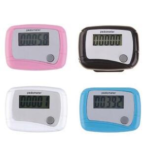 LCD Digital Step Pedometer Walking Calorie Counter Distance Belt Clip New