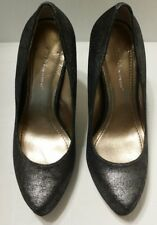 BCBGeneration womens shoes heels size 6 metallic silver shiny 5 inch heel