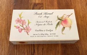 Crabtree & Evelyn Vintage Peach Kernel Oil Soap 3/Pack Triple Milled Vintage