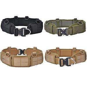 Tactical Military Molle Waist Belt Padded Combat Battle Belt Strap Military Part