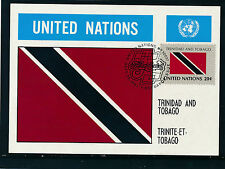 United Nations, Trinidad and Tobago, Flaggen-Karte, Flags   12/5/15