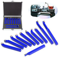 11Pcs Metal Lathe Tooling Carbide Tip Tipped Brazed Cutter Tool Bit Set with Box