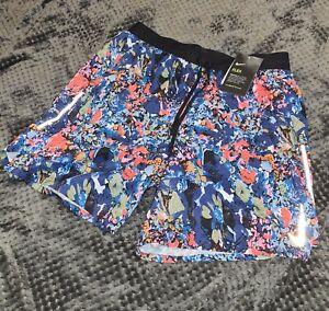 Nike Floral Camo Flex Stride Shorts Blue Size Small New RARE