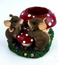 "Charming Tails by Fitz and Floyd ""Our Love Burns Bright"" Votive Item: 93/205"
