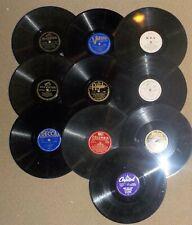 Random Lot of 10 Jazz, Big Band 78 Rpm Records Various Artists & Labels