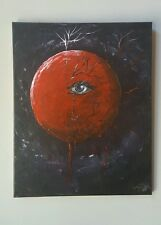 Blood Red Moon 16x20  acrylic Original by Nicole Justin