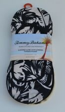 TOMMY BAHAMA Women's 3 pairs invisible Low-Cut liners Black Socks NEW NWT