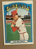Topps 1972 #606 Luis Melendez - St. Louis Cardinals