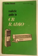 RADIO SHACK BOOK Realistic Guide to CB RADIO Hicks 1st Ed. VTG 1975 RARE