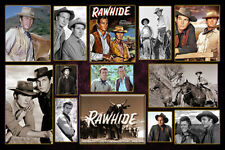 "4""x6"" Magnet Collage -""Rawhide"" Tv Western Heroes"" Clint Eastwood & cast"