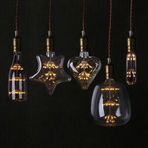 LED Light Vintage Starry Sky Lamp Bottle Firework Non Dimmable Bulb Christmas